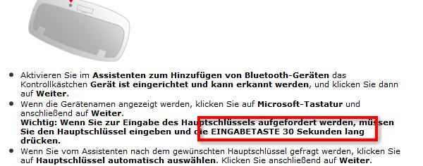 Bluetooth Fehler