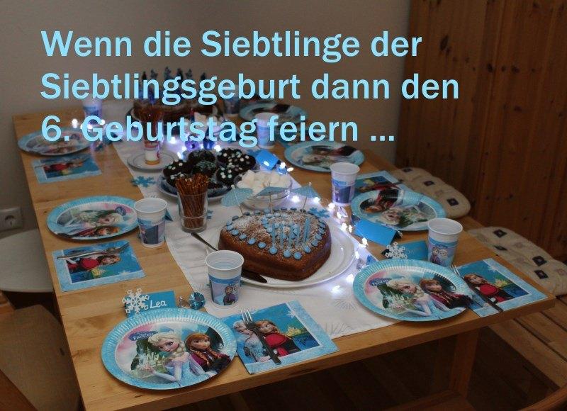 Tisch des Geburtstags von Siebtlingsgeborenen