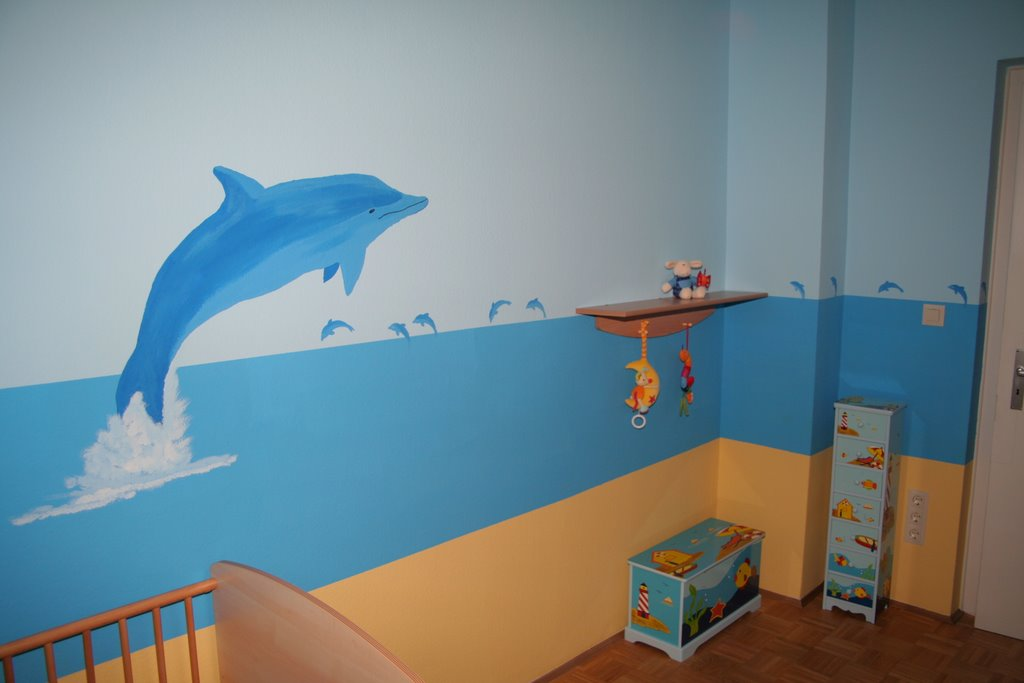 delfine f r die kinderzimmerwand gernot gawlik. Black Bedroom Furniture Sets. Home Design Ideas